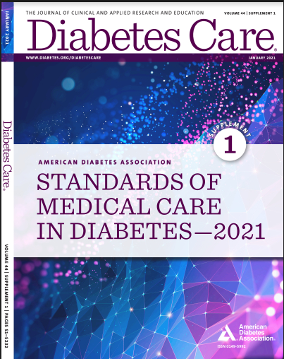 Standards of Medical Care in Diabetes (2021) (PDF) by ADA